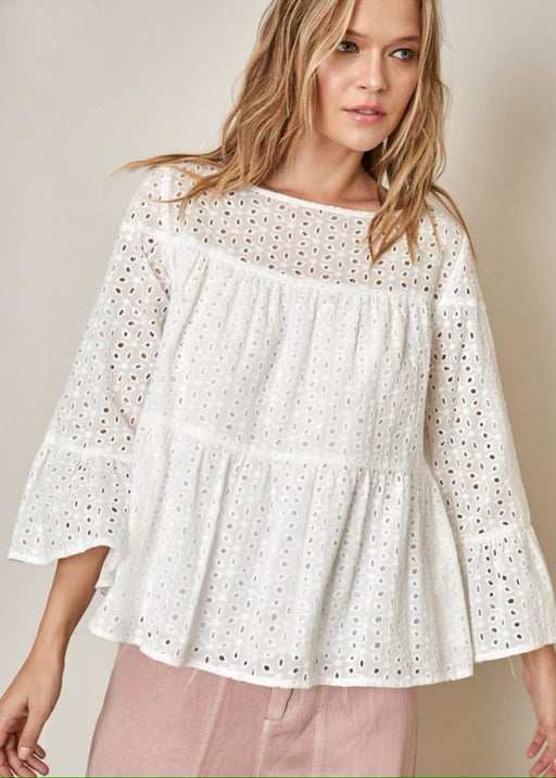 Cotton Eyelet Top