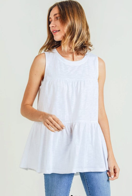 Whispy White Tiered Top