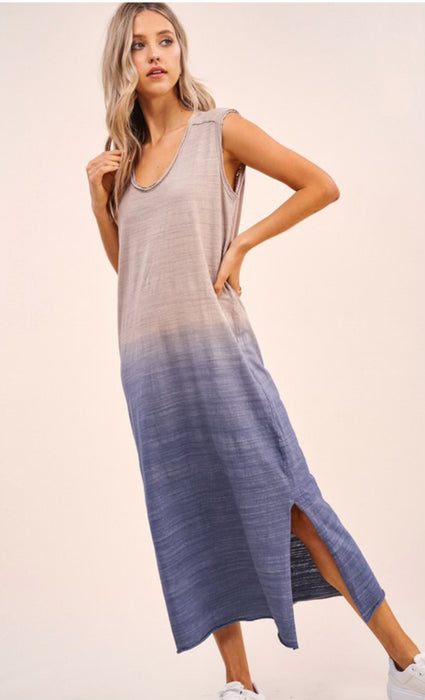 Throw On & Go Dress - Sand