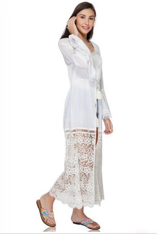 White Crochet Coverup
