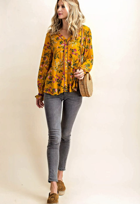 Fall Flowers Top