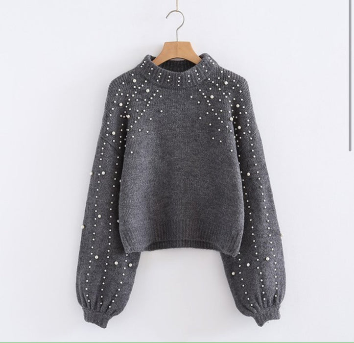 Clutch Your Pearls Sweater