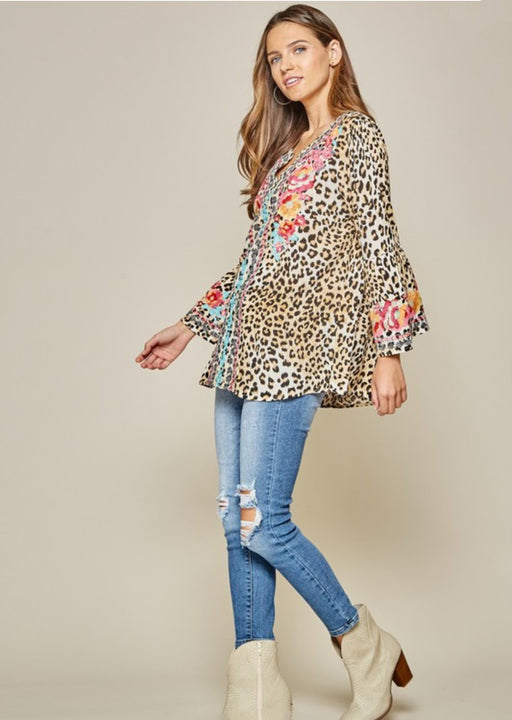 Lovely Leopard Tunic Top
