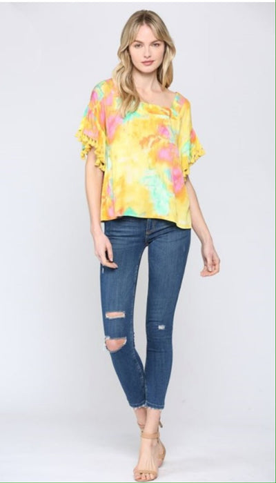Tropicana Tassel Top