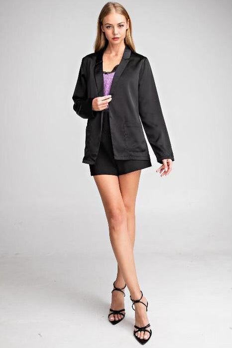 Naughty Or Nice Silky Blazer