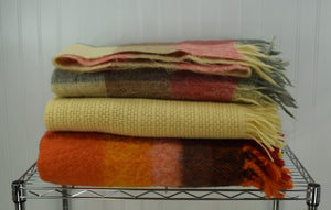 Vintage wool throws and robes