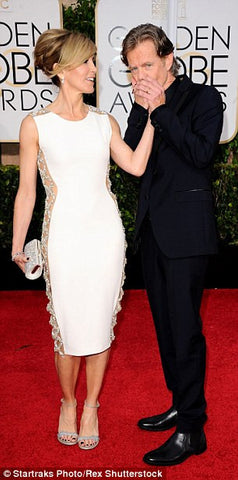 Felicity Huffman ~ Sheer side panel dress at the Golden Globes! Shibue is her unseen fashion solution.