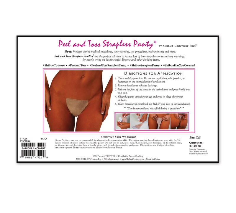 Disposable Peel and Toss Strapless Panty