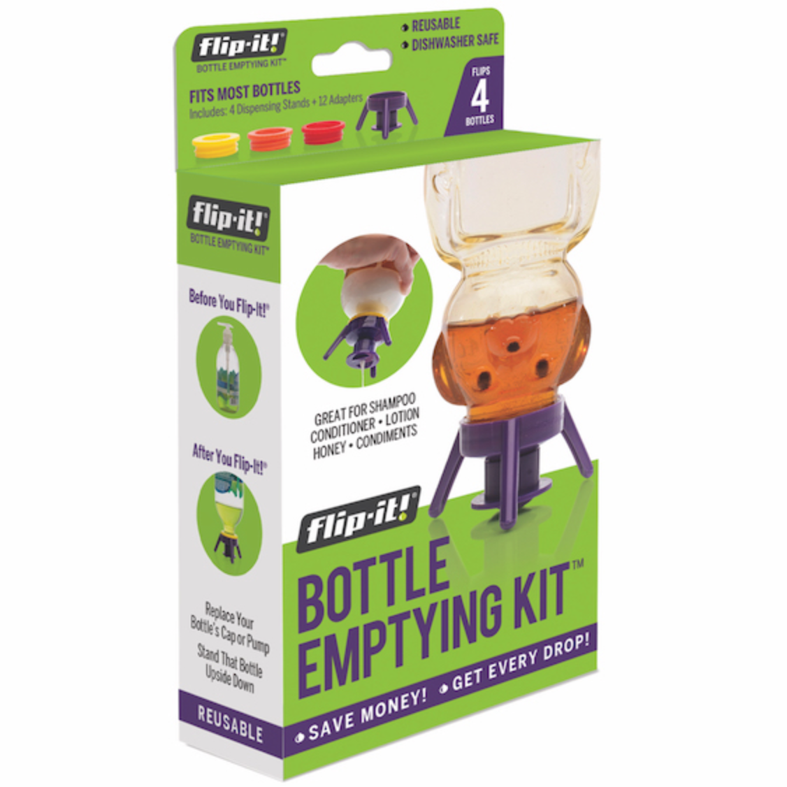 Flip-It!® Bottle Emptying Kit™, 4-Pack