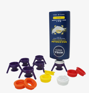 Flip-It!® Bottle Emptying Kit Deluxe 6-Pack with Nivea®, Eucerin® and Aquaphor® Compatible Adapters