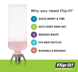 Flip-It!® Bottle Emptying Kit Deluxe, 12 piece, 6-Pack