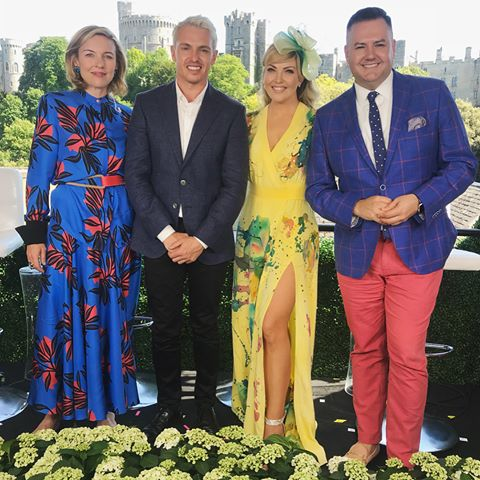 Cheryl Hickey in Aleks Susak for Royal Wedding Coverage