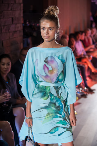 Lara Hand-Painted Silk Dress