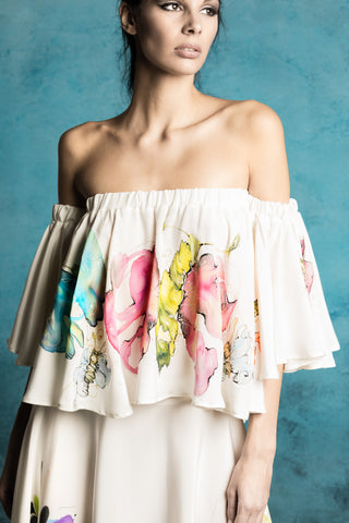 Canvas Hand-Painted Blouse