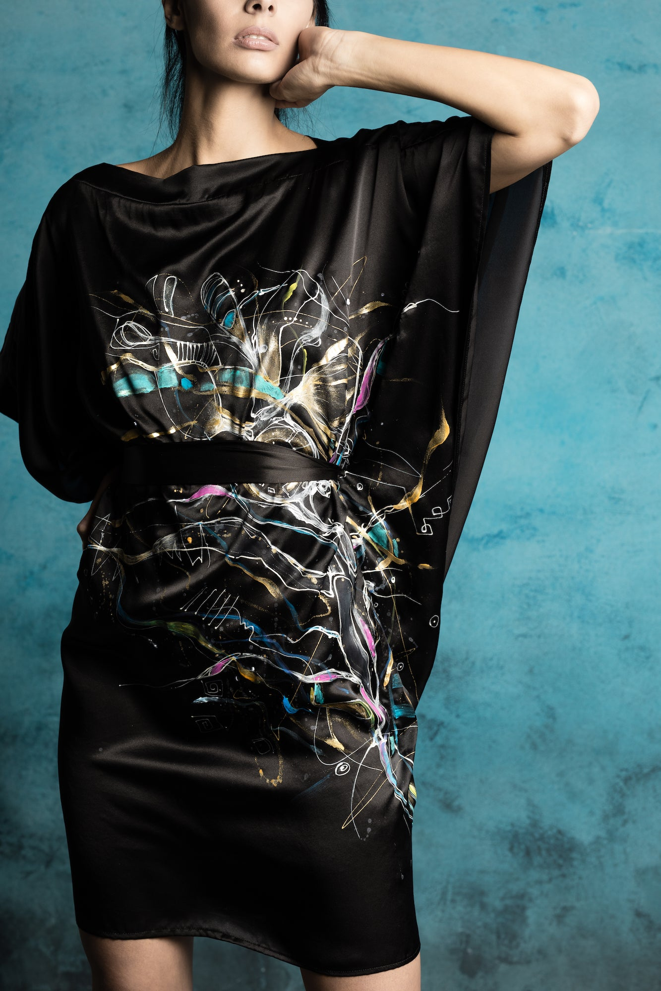 Lyrica Hand-Painted Caftan