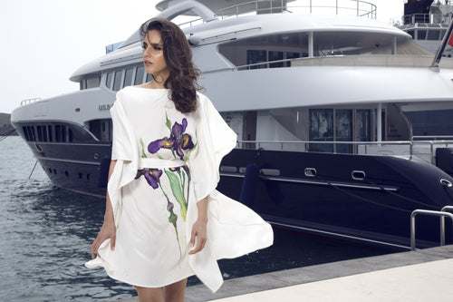 The Iris Hand-Painted Caftan