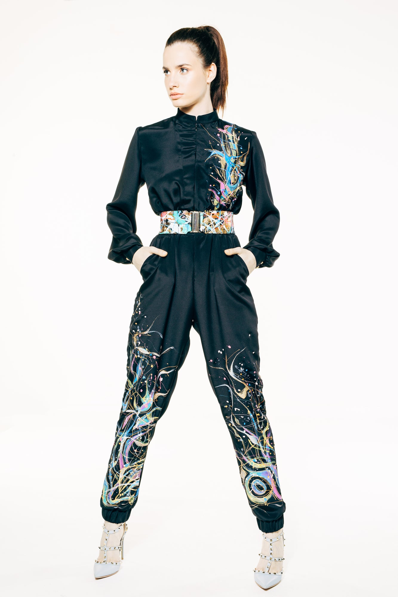 Vogue Hand-Painted Jumpsuit
