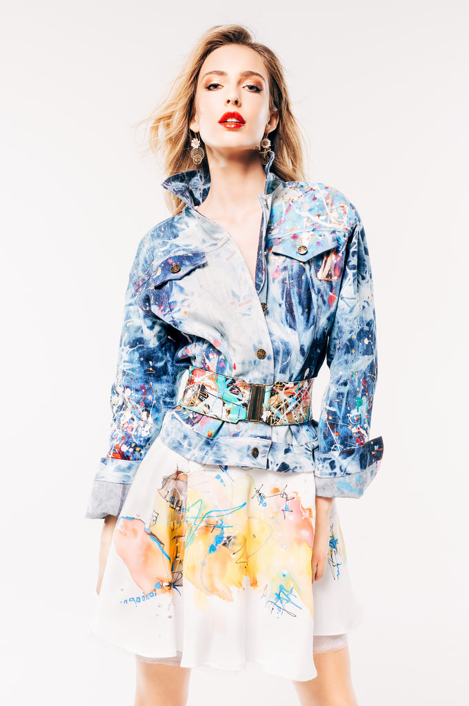 Classic Hand-Painted Denim Jacket