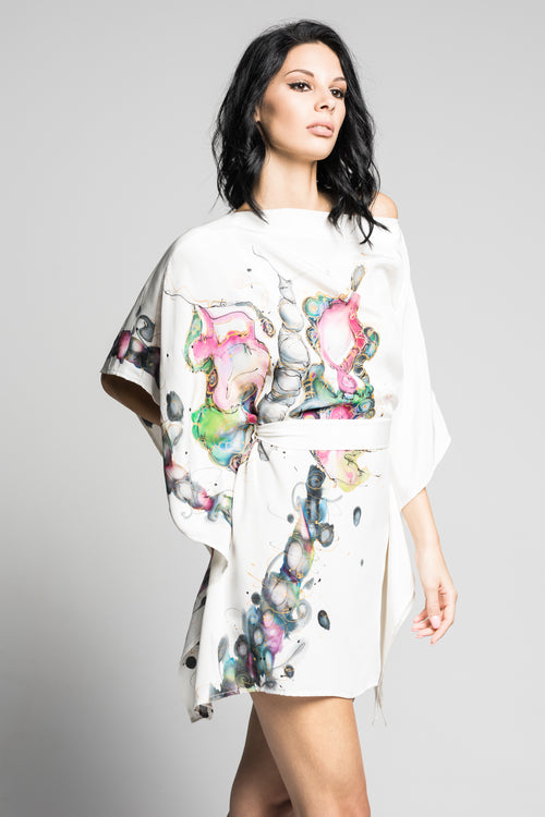 Wild Butterfly Hand-Painted Caftan