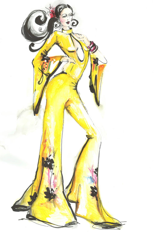 Lady Yellow Jumpsuit