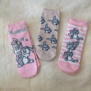 Thumper Bunny Socks - Set of 3