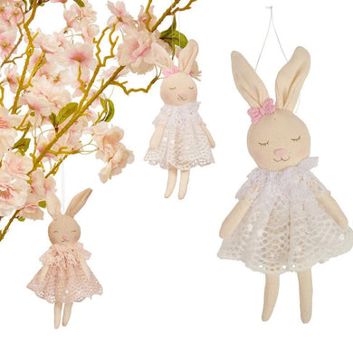 Hanging Lace Bunny Rabbit Decoration