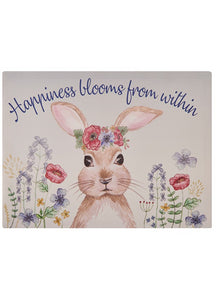 Blooming Bunny Rabbit Canvas