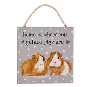 Guinea Pig Wooden Plaque -  Home Is Where My Guinea Pigs Are