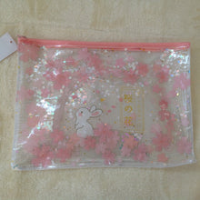 Pretty Bunny Rabbit A4 Stationery Zip Top Bag