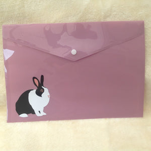 A4 Plastic Dutch Bunny Rabbit Folder