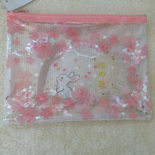 Pretty Bunny Rabbit A5 Stationery Zip Top Bag