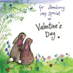 Alex Clark Somebunny Special Rabbit Valentine Card