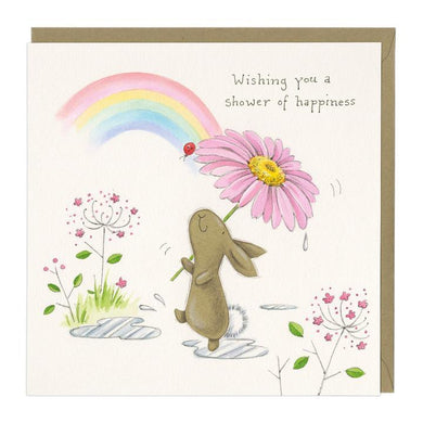Shower With Happiness Bella Bunny Card