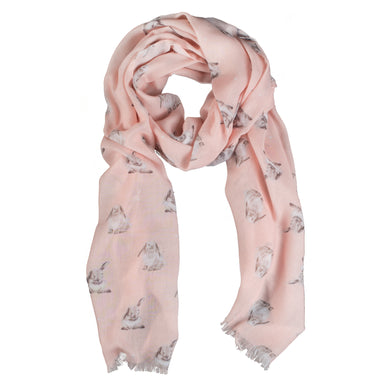Wrendale Champagne Pink Lop Rabbit Scarf