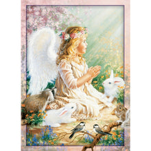 Angel and Bunnies Eco Friendly All Occasions Card