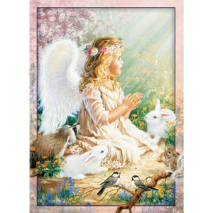 An Angel's Spirit and Bunnies Eco Friendly Luxury Card