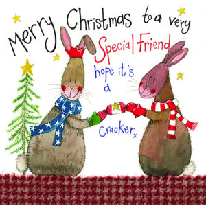 Alex Clarke Special Friend Christmas Card
