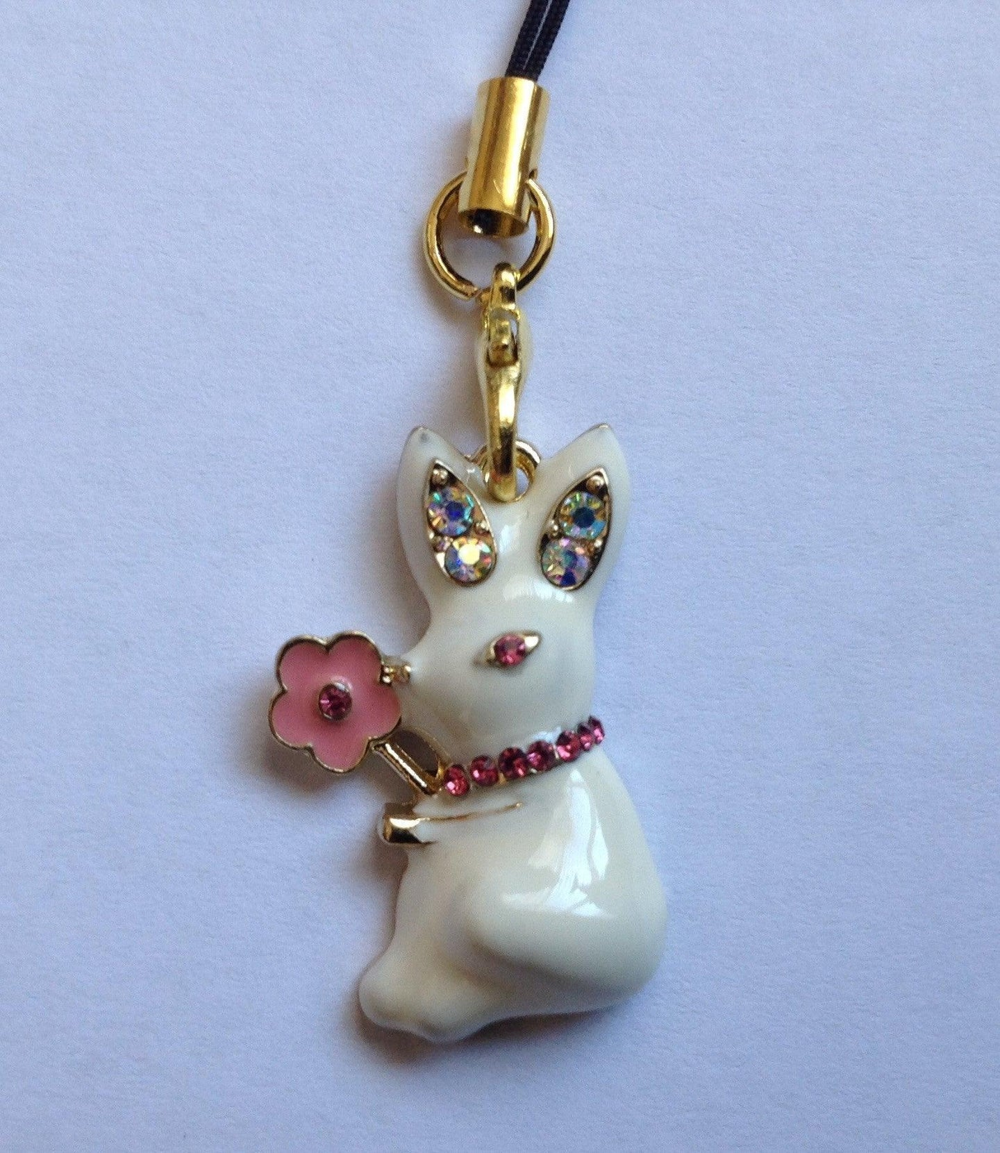 Enamel Rabbit Charm
