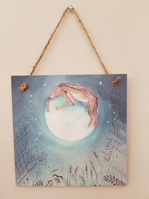 Hugging The Moon Forever Wooden Card/Plaque