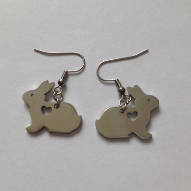 Bunny Rabbit Love Silver Earrings