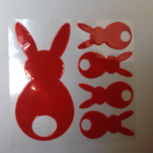 Bunny High Visibility Safety Stickers