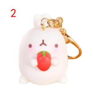 Kawaii Molang Rabbit Keyring