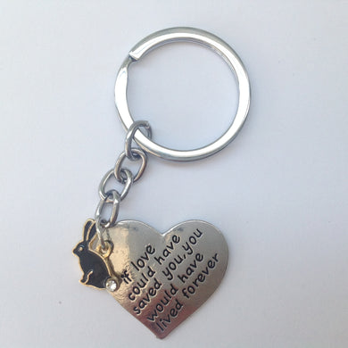 Memorial Rabbit Heart Keyring