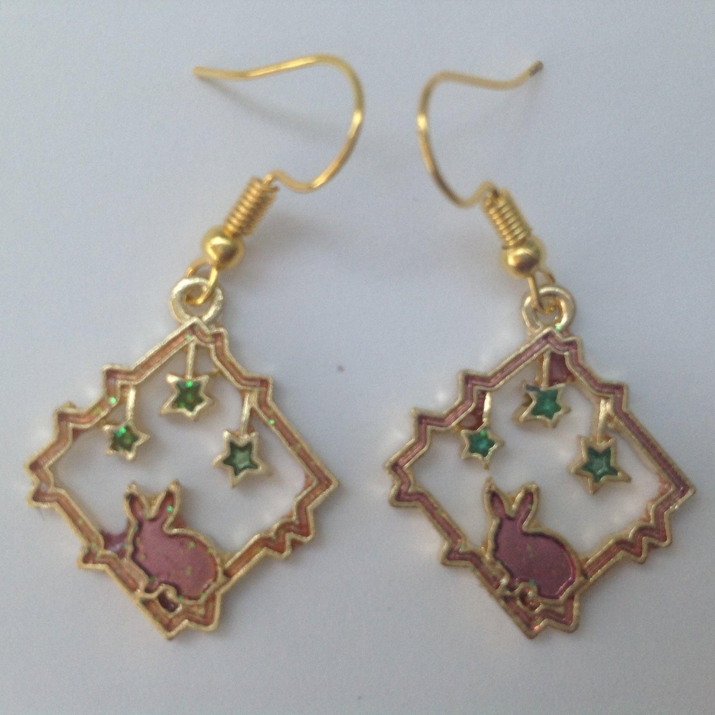 Starry Night Bunny Earrings