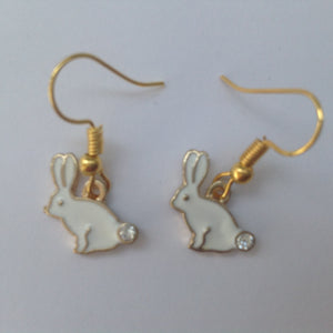 Pretty Enamel Bunny Earrings