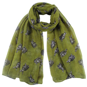 Bunny Rabbit Ladies Scarf -  2 Colours