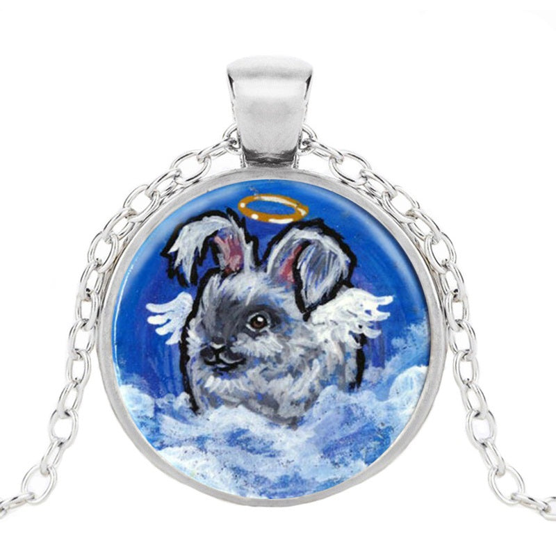 Memorial Angel Bunny Pendant