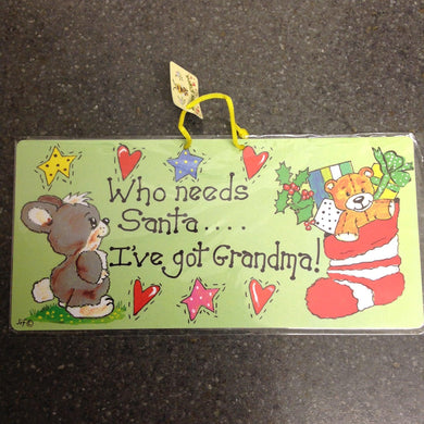 Grandma Christmas  Bunny Sign- SPECIAL OFFER