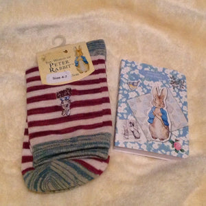 Peter Rabbit Sock & Diary Christmas gift set