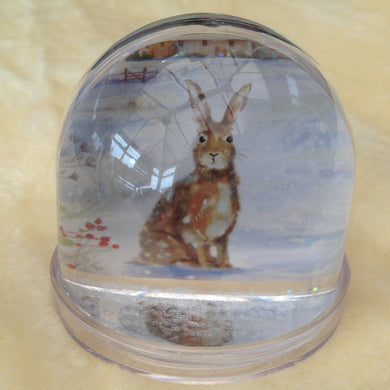 Winter Bunny Glitter Snow Globe